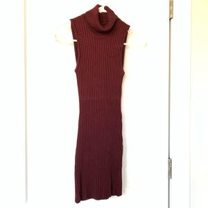 Bebe sleeveless turtle neck sweater dress